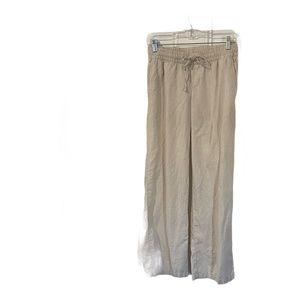 Old Navy Oatmeal Linen Pants Drawstring XS